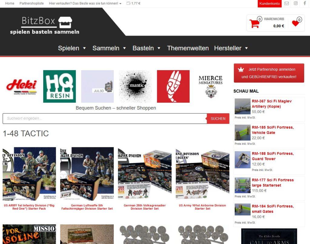Screenshot Bitzbox.de Onlinemarktplatz