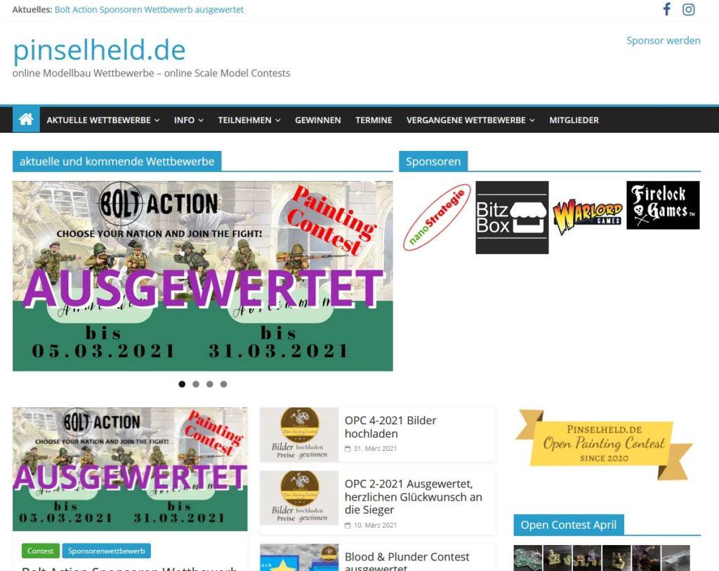 Screenshot Pinselheld.de Onlinecommunity